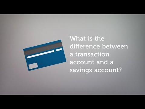 Transaction accounts versus savings accounts