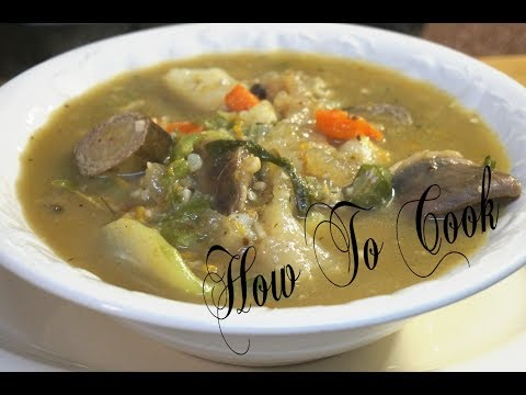 HOW TO MAKE JAMAICA BEST GOAT HEAD MANNISH WATER SOUP RECIPE 2017