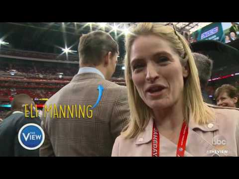 Sara Haines Snacks, Chants and Dances Her Way ThroughSuper Bowl 51 | The View