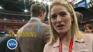 Sara Haines Snacks, Chants and Dances Her Way Through Super Bowl 51 | The View