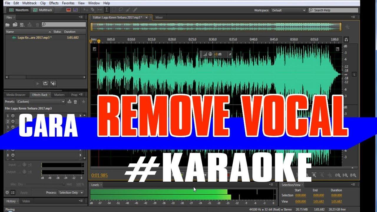 Cara Remove Vocal Atau Mengubah Lagu Menjadi Karaoke Adobe Audition Youtube