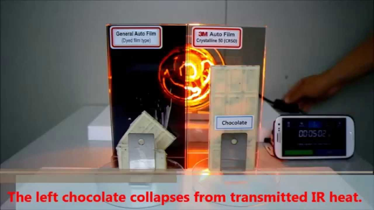 3m Window Film Heat Rejection Performance Demo With White Chocolate You