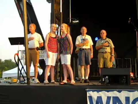 National Anthem  Red, White, and Bluegrass Festival by: Isabell and Maria Mull