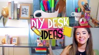 Diy Desk Decor & Organization +giveaway! Easy & Affordable Tumblr Inspired Ideas For Back To School!