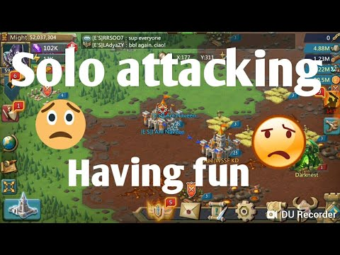 My Solo Attack Actions Lords Mobile |Troop Killing In Lords Mobile