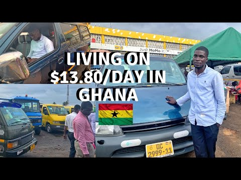 A DAY IN THE LIFE OF A GHANAIAN BUS DRIVER | TROTRO DRIVER ACCRA | LIFE IN GHANA