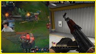 He Plays League And Counter Strike At The Same Time And Wins In Both - Best of LoL Streams #719