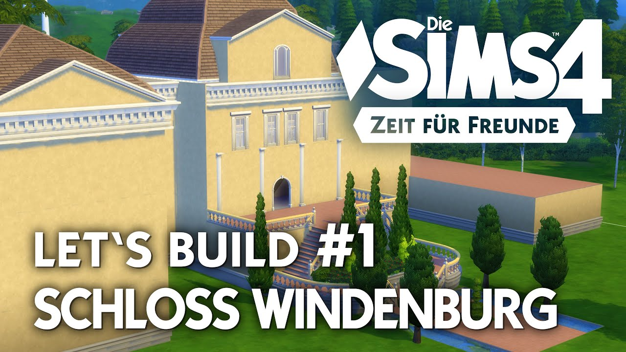 die sims 4 let 39 s build schloss 1 grundriss haupt haus bauen youtube. Black Bedroom Furniture Sets. Home Design Ideas