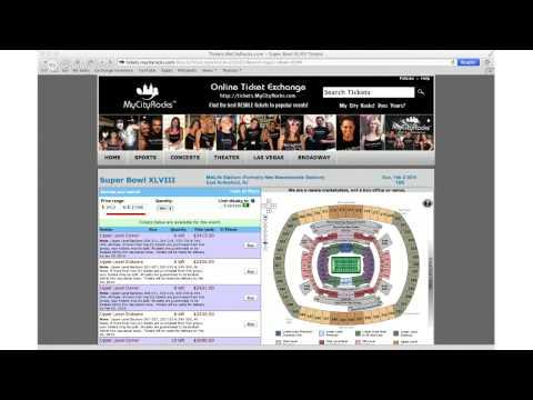 Super Bowl Tickets East Rutherford NJ MetLife Stadium XLVIII Meadowlands Football 02/02/2014