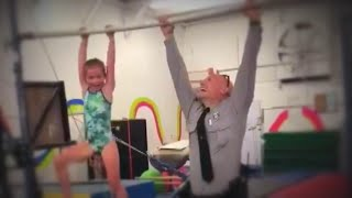 7-Year-Old Beats State Trooper Dad in Pull-Up Challenge
