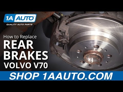 How to Replace Rear Brakes 01-07 Volvo V70