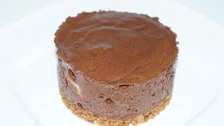 Mousse Au Chocolat Et Son Insert De Banane PosÉ  Sur Un Croquant De SpÉculoos   (cuisinerapide)