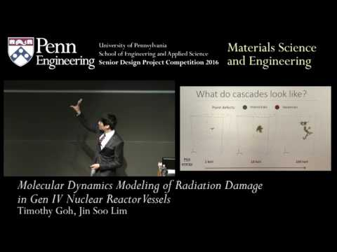 SDC 2016: Molecular Dynamics Modeling of Radiation Damage in Gen IV Nuclear Reactor Vessels