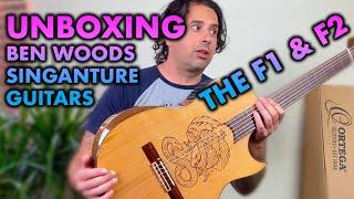 UNBOXING the Ben Woods Signature Flamenco Guitars F1 & F2 by Ortega Guitars.