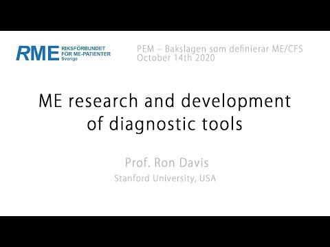 ME research and development of diagnostic tools - Prof. Ron Davis