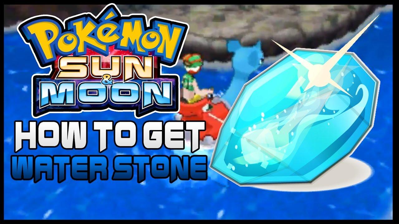 water stone pokemon moon