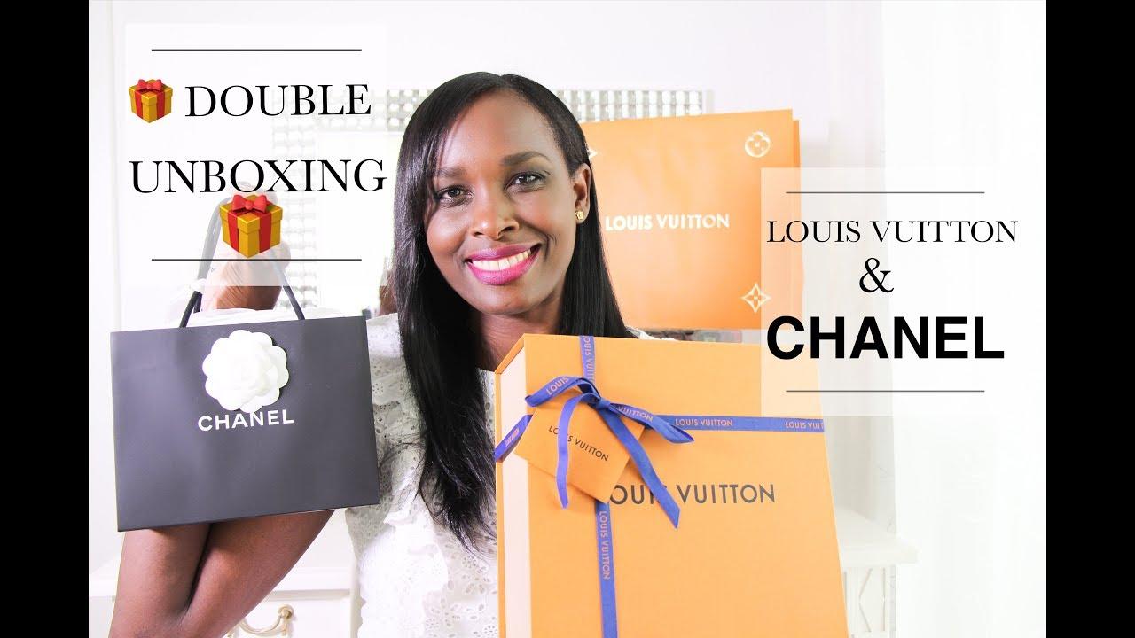 8ca2336ab705 Double Unboxing 🎁🎁 Louis Vuitton   Chanel Haul