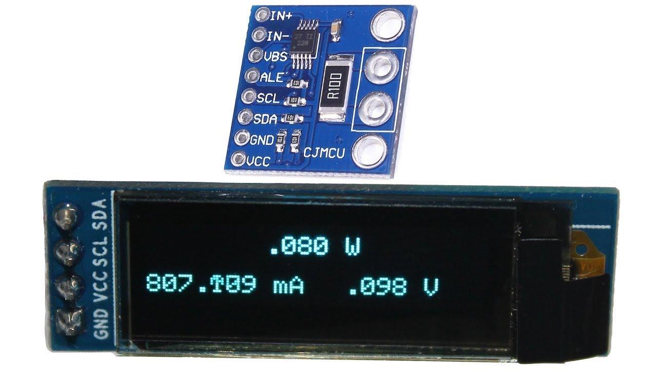 Ina power monitor oled display arduino tutorial