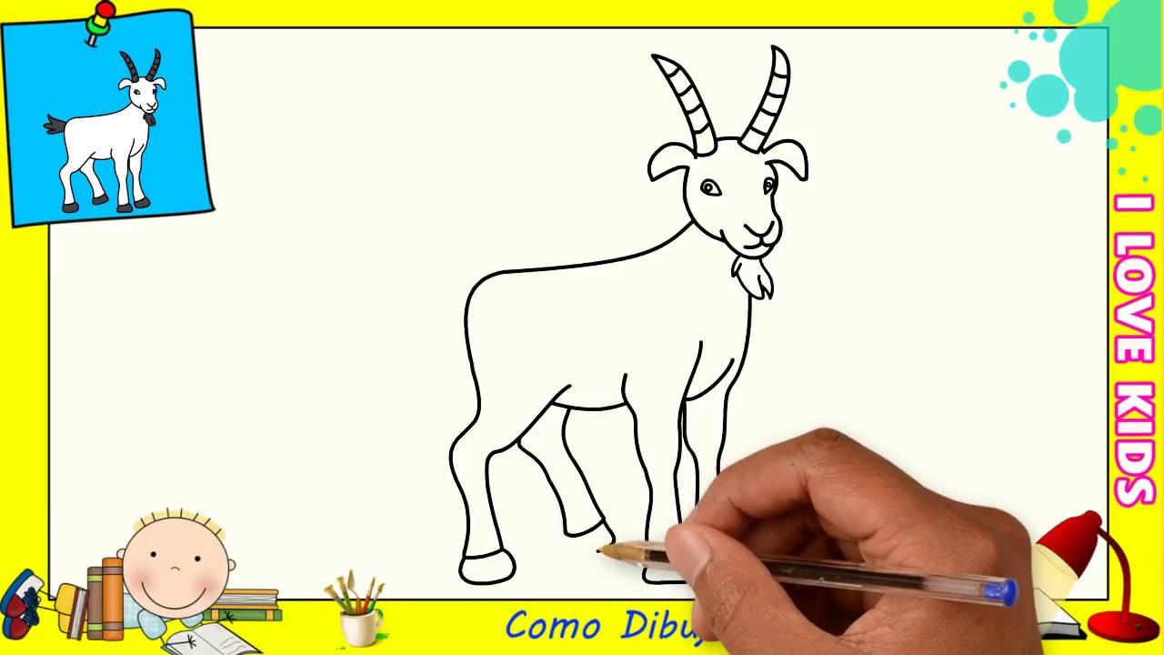 Dibujo De Cabra Facil