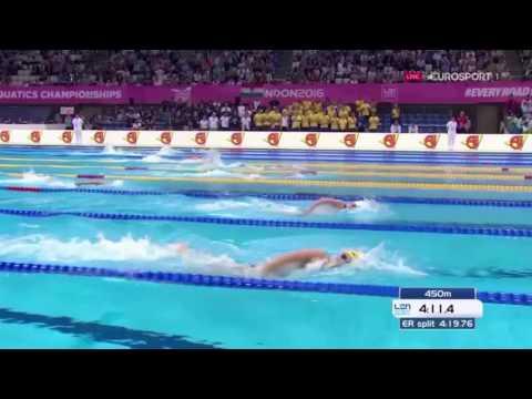 Women's 4x200m Freestyle Relay Final LEN European Swimming Championships London 2016