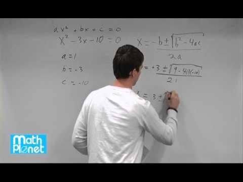 The quadratic formula (Algebra 1, Quadratic equations