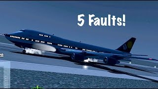 Extreme Landings Pro | Boeing 747 | 5 Faults!