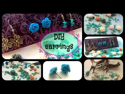 Three DIY Earrings