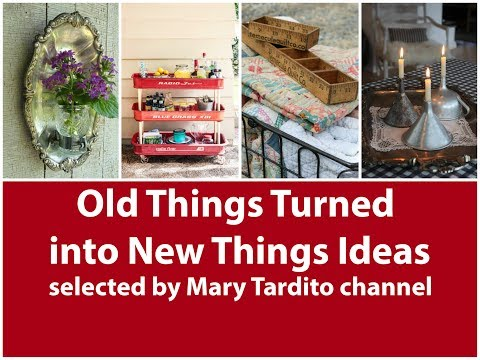Old Things Turned into New Things Ideas – Recycled Home Decor