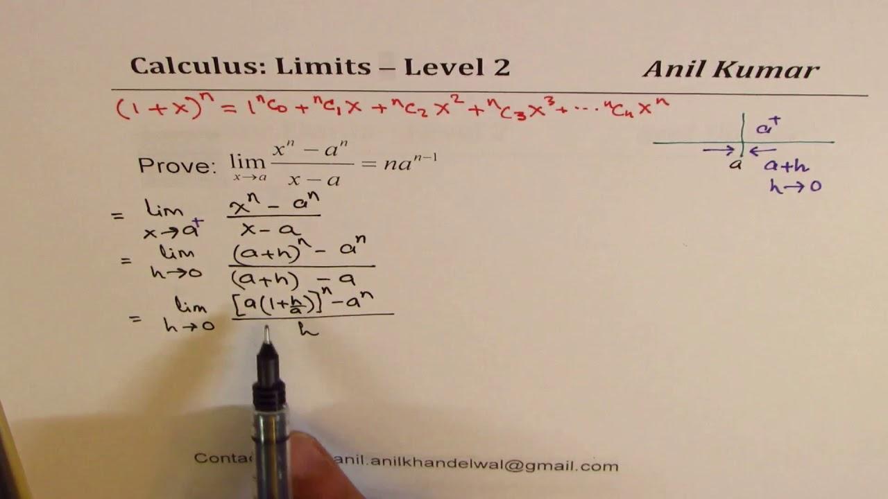 Prove Limit  X N - A N    X - N    Nx  N