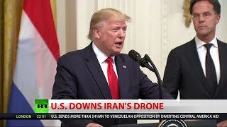 BREAKING: US shoots down Iranian drone