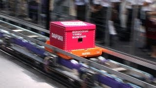 Daifuku Baggage Tray System moves baggage at 600m per minute #DigInfo