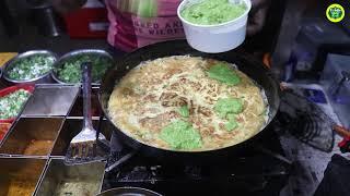 Super Fluffy Bread Omelet | Egg Omllette Loaded with Butter and Veggies | Indian Egg Street Food