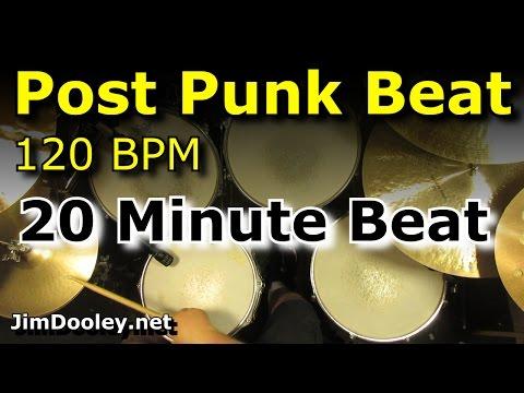 20 Minute Backing Track - Post Punk Drum Beat 120 BPM