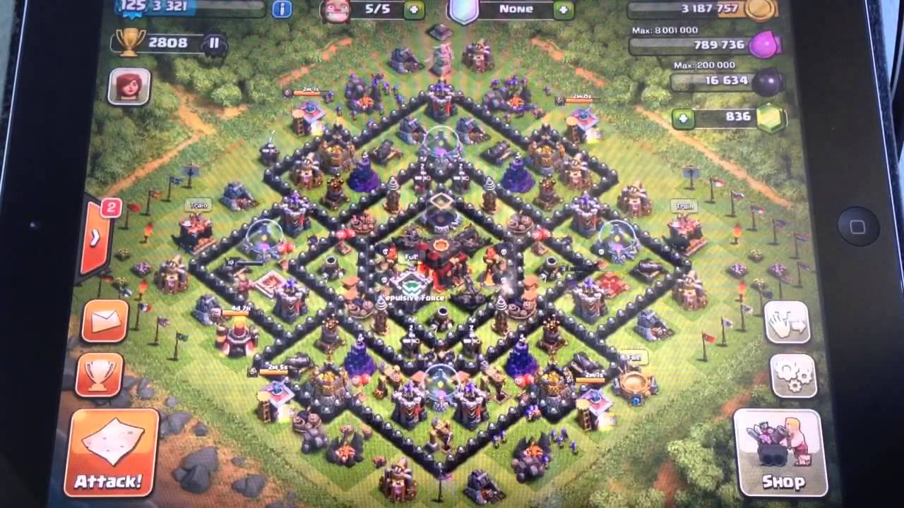Clash of clans base setup th 10 youtube