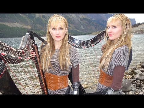 VIKINGS Theme If I Had A Heart Harp Twins  Camille and Kennerly