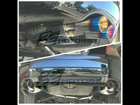 Tsudo Quad Tips Exhaust Jpipe Installed On Acura TL Type S YouTube - Acura tl exhaust system