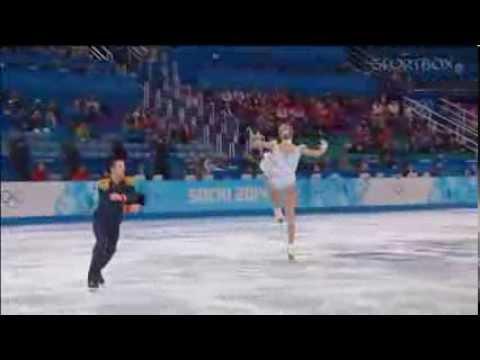 видео: Татьяна Волосожар Максим Траньков  Олимпиада Сочи 2014, короткая программа, командные соревнования