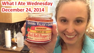 What I Ate Wednesday: Dec 24, 2014 - Garlic Red Pepper Jelly!