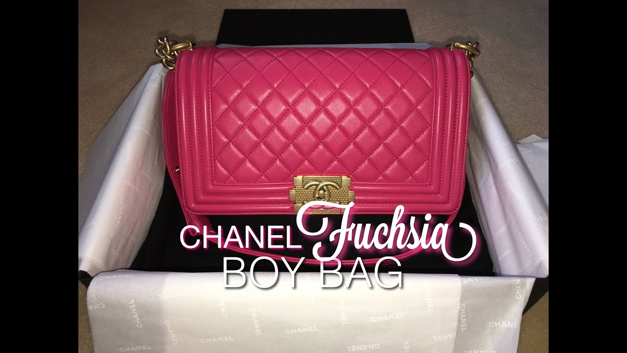 5fa3e7f5f3e6ff CHANEL Fuchsia Boy Bag | Unboxing - YouTube
