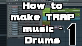 How to make Trap music tutorial - Part 1 Drums n Bass - FL Studio + download
