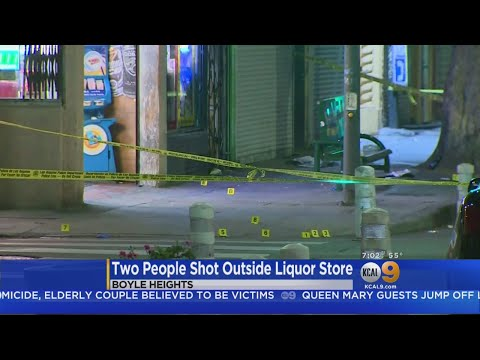 2 Shot Outside Boyle Heights Liquor Store; Suspect At Large