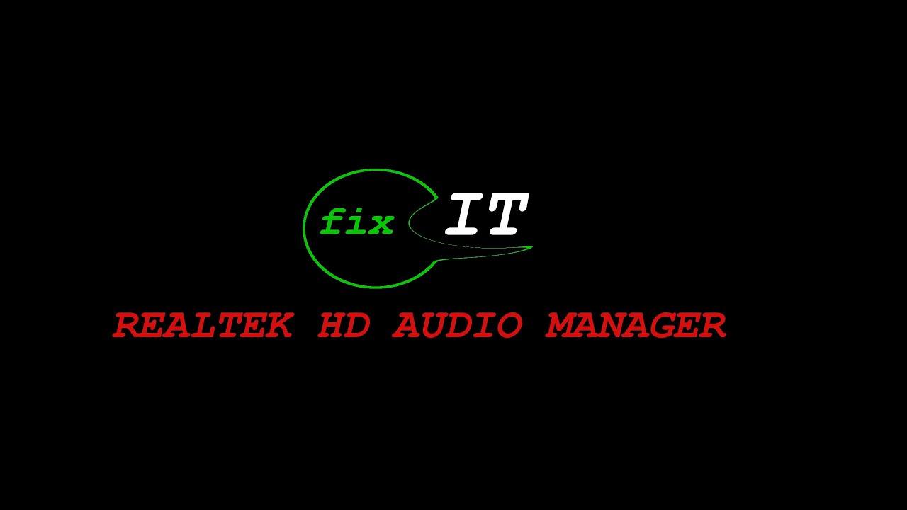 realtek hd audio manager randomly pops up
