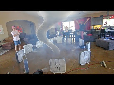 HOMEMADE TORNADO IN OUR HOUSE! (FAILED)