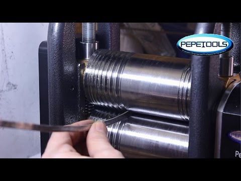How to make Silver Scrap into a Bangle, Ring & Earrings with The Pepe Tools Ultra Rolling  Mill