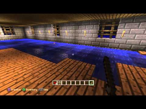 Minecraft ps4 lake wichita pavilion  with great red stone work