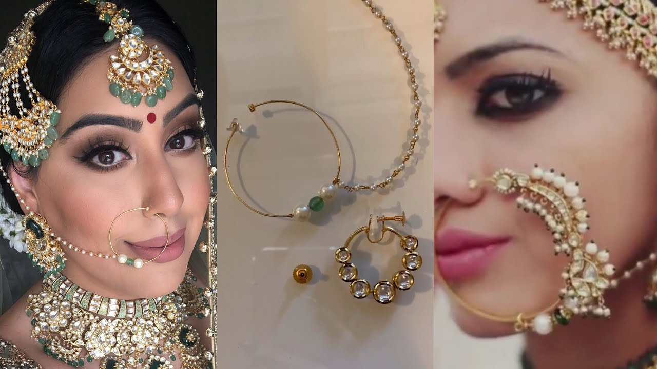 HOW TO WEAR INDIAN NOSE RING/NATH IN YOUR NOSE FOR NON PIERCED NOSE