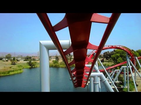 Flight Deck front seat on-ride HD POV California's Great America