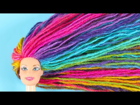 DIY BARBIE Transformation You Can Make Under 5 Minutes; HAIRSTYLES and CLOTHES