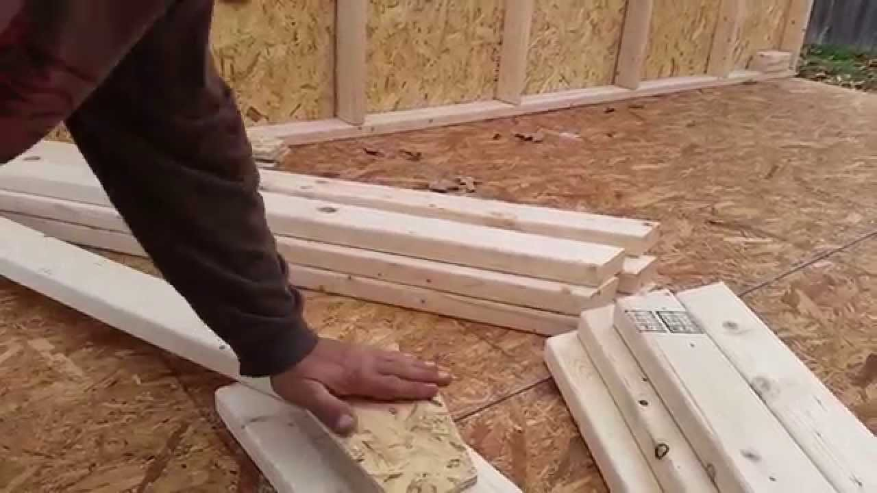 8x12x8 A Frame Shed Tutorial Part 18 Setting Top Wall Spacers ...