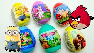 Super Surprise Egg Collection with Pets Minion and Angry Birds